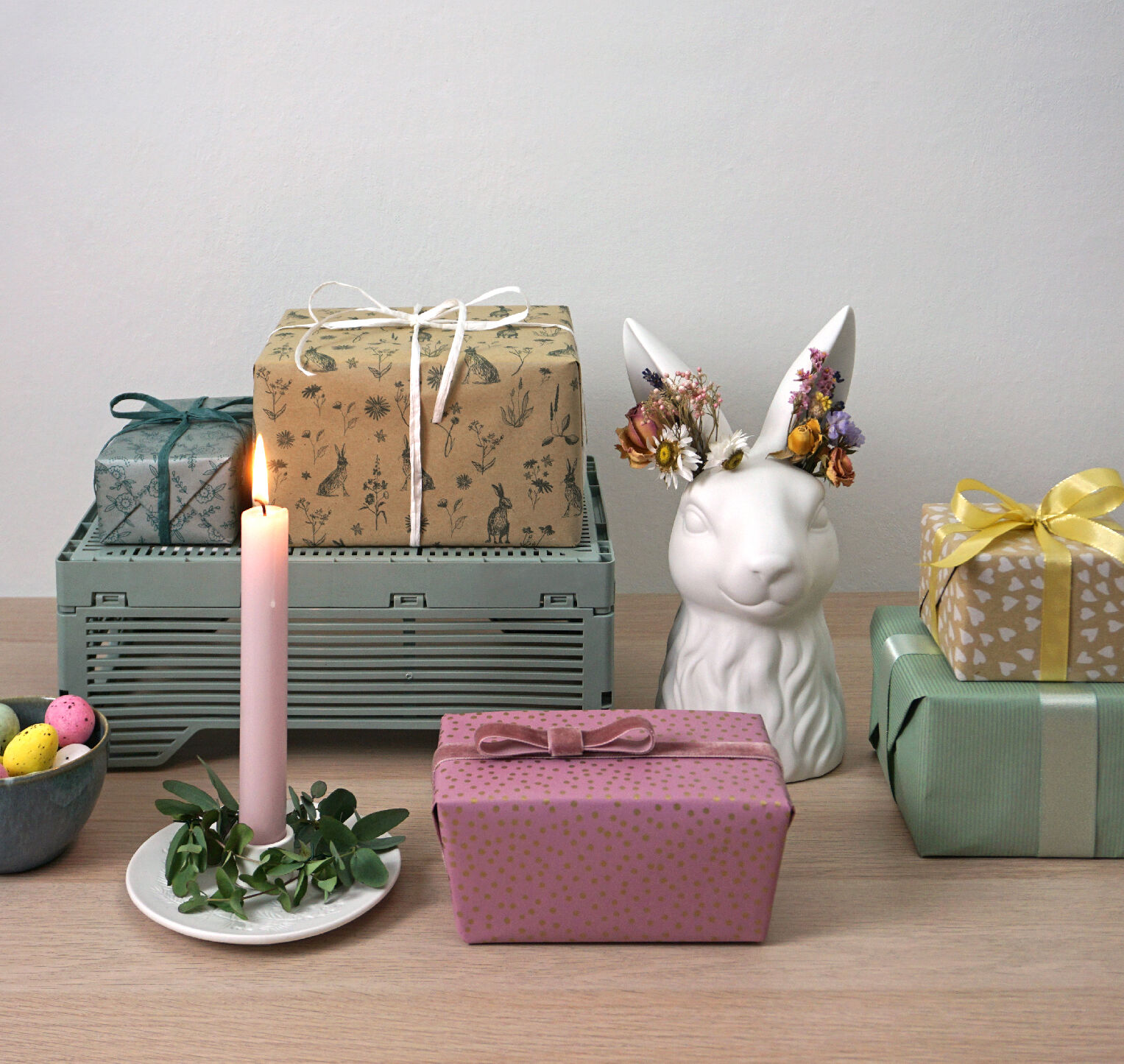 easter and spring gift wrap