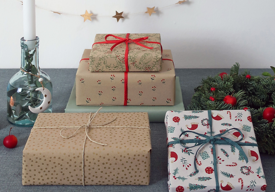 recycled gift wrapping paper christmas
